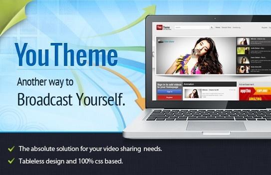 Joomla Template: Apptha YouTheme - Like YouTube Theme