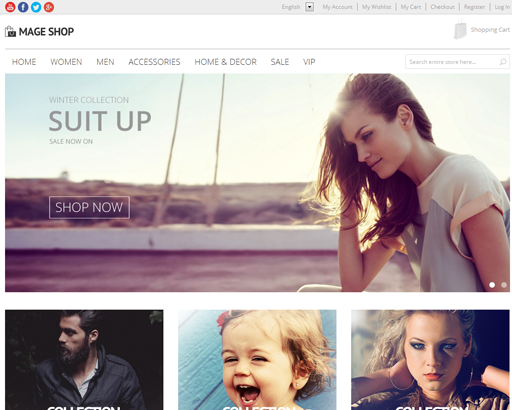 Magento Template: Mage shop - Magento Multipurpose Theme
