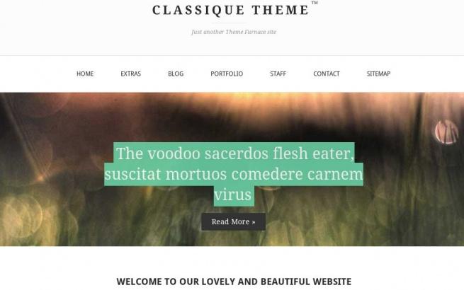 Wordpress Theme: Classique