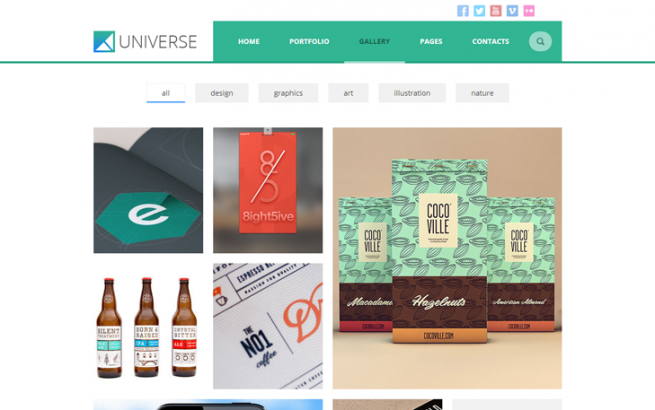 Wordpress Theme: UNIVERSE