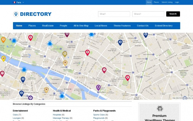 Wordpress Theme: Directory