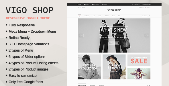 Joomla Template: Vigo Shop