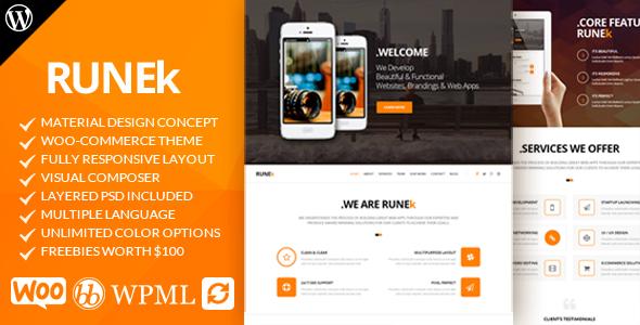 Wordpress Theme: Runek - Material Design WordPress Theme
