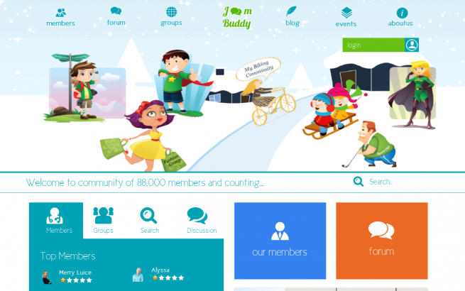 Joomla Template: Joombuddy - Mobile Ready Jomsocial Theme
