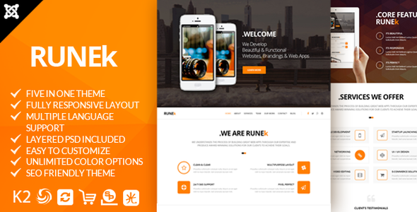 Joomla Template: Joomla-Runek - Multipurpose and Responsive Joomla theme