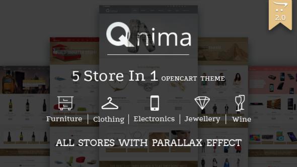 Opencart Template: Opencart -Qnima – Versatile & Responsive Opencart Theme