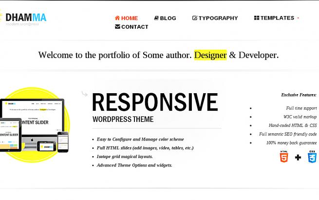 Wordpress Theme: Dhamma