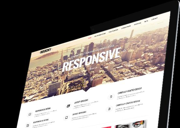 Joomla Template: Roocky Corporate template.