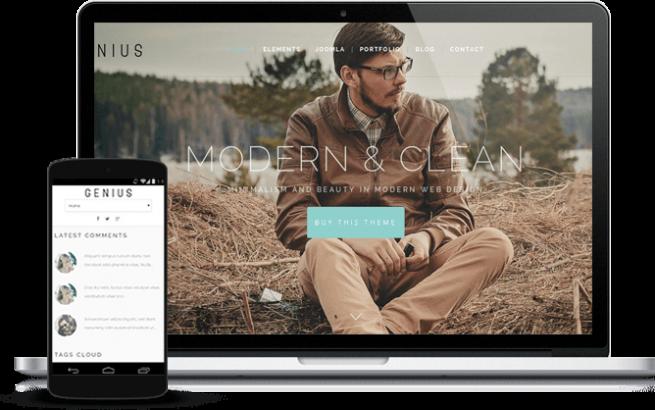 Joomla Template: Genius - Joomla elegant template for modern business