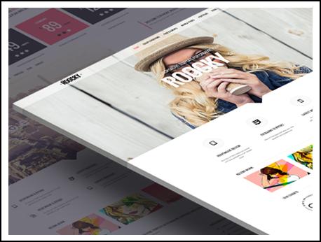 Joomla Template: Roocky Joomla! template. Minimal Classic layout.