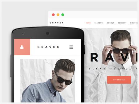 Joomla Template: Gravex Joomla business template