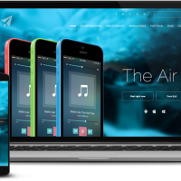 balbooa Joomla Template: The Air. Follow the property line.