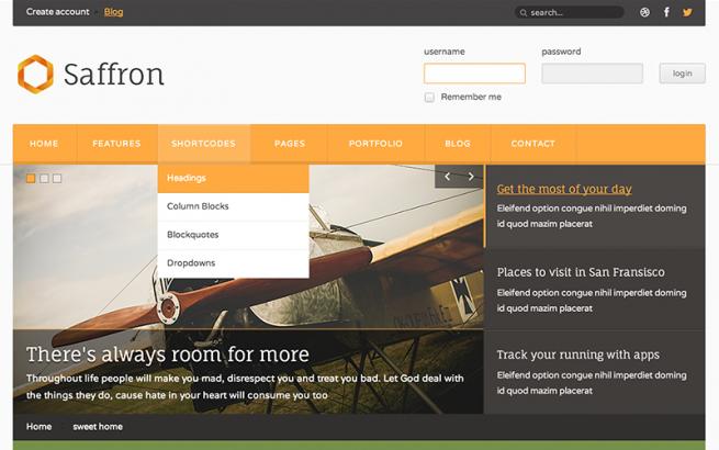 Joomla Template: Saffron - Responsive Joomla Template
