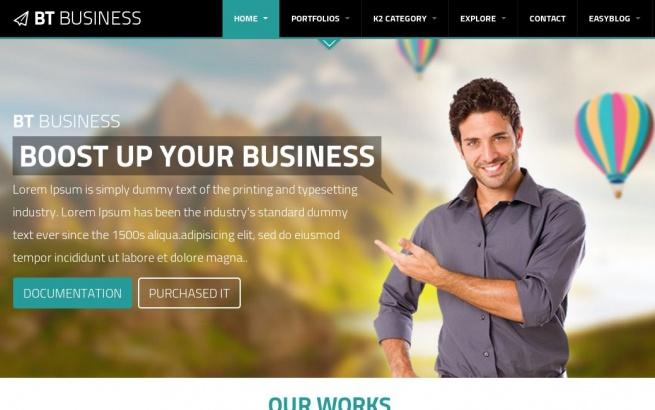 Joomla Template: BT Business