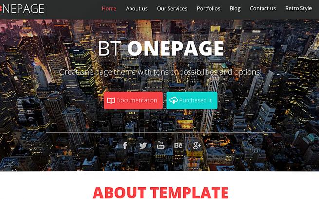 Joomla Template: BT OnePage