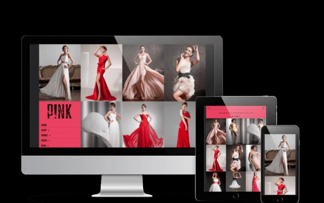 Joomla Template: Pink - Joomla Virtuemart template