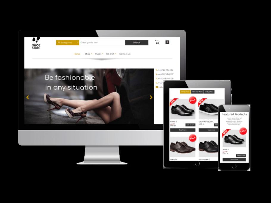 Joomla Template: FREE eCommerce Joomla template - Shoe Store