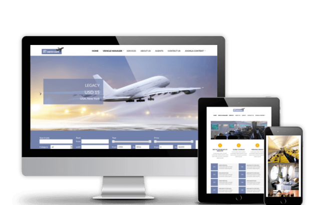 Joomla Template: Jet Charter Flights - Joomla template