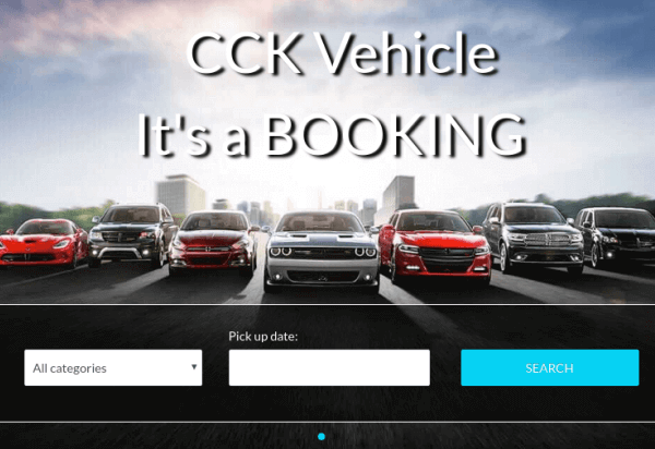 Joomla Template: CCK Vehicle Booking  - Your Booking site