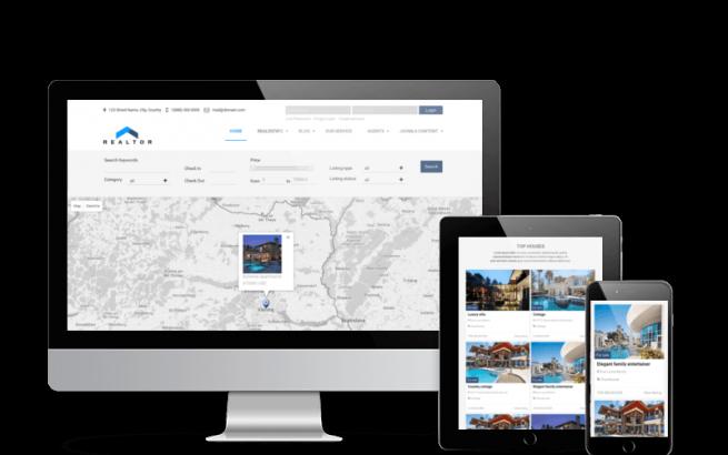 Joomla Template: Realtor - Real Estate Joomla template