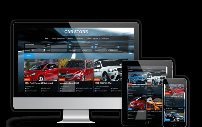 Joomla Template: Car Store - Joomla Automotive Template