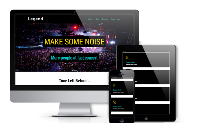 Wordpress Theme: Legend - Event  WordPress theme
