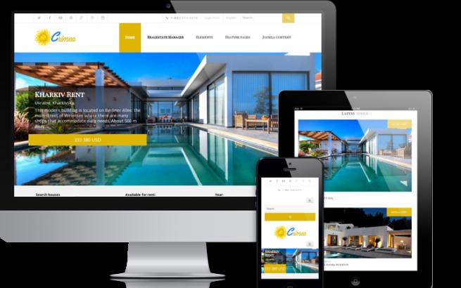 Joomla Template: Crimea - Joomla real estate template