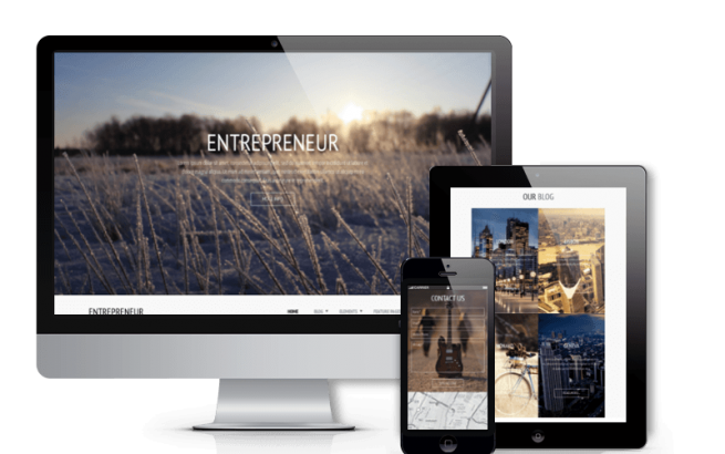 Joomla Template: Entrepreneur - Joomla business template