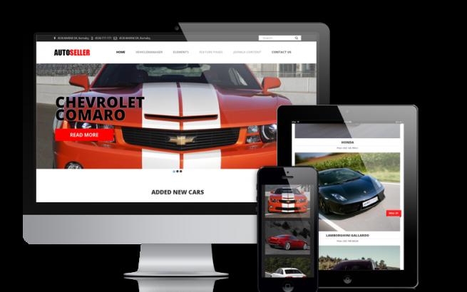 Joomla Template: Autoseller - Car Dealer Website Design