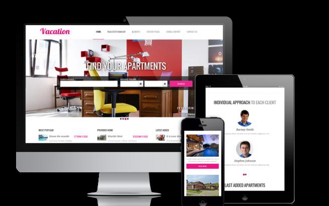 Joomla Template: Vacation - Joomla real estate template