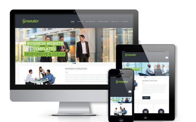 Joomla Template: Greenster - Joomla One-page Template