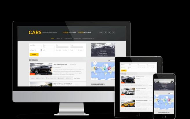 Joomla Template: Cars - Joomla Car Dealer Template