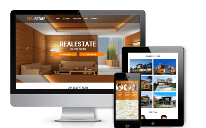 Drupal Theme: Real Estate - Responsive Drupal theme