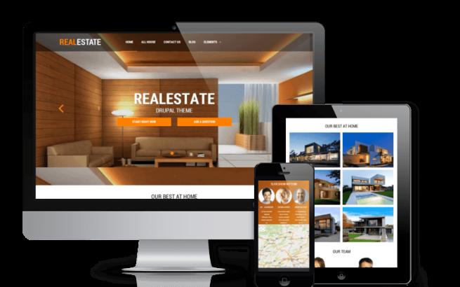 Drupal Theme: Real Estate - Responsive Drupal theme