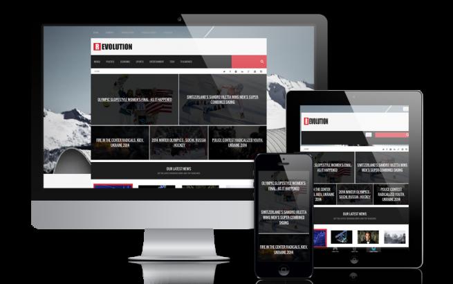 Joomla Template: Revolution - Joomla News Template