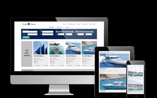 Joomla Template: Yachts Charter - Yachting Joomla template