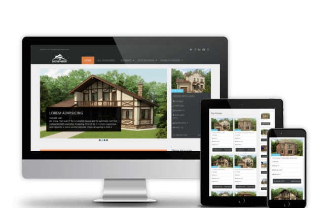 Joomla Template: Real Estate November - Joomla template