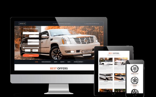 Joomla Template: Luxury Car Rental - Limo Joomla Template