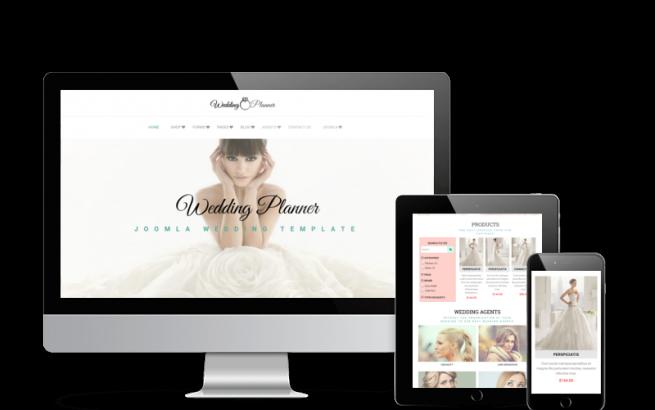 Joomla Template: Wedding Planner - Joomla Wedding template