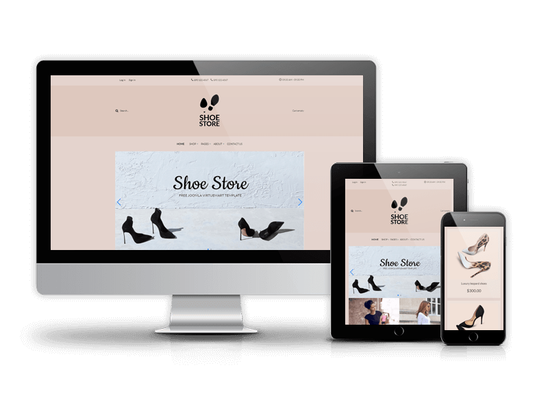 Joomla Template: Shoe Store - VirtueMart 3 Template