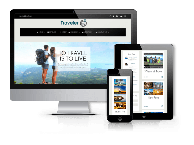 Wordpress Theme: Traveler - WordPress Blog Theme