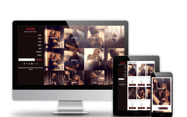 Joomla Template: Autumn - Joomla Virtuemart Template