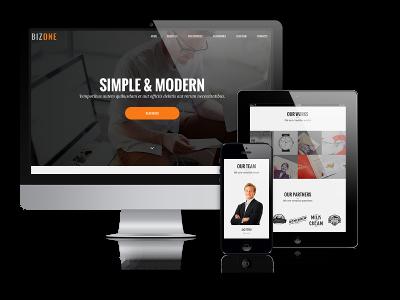 Wordpress Theme: BizOne -  One Page Wordpress Theme