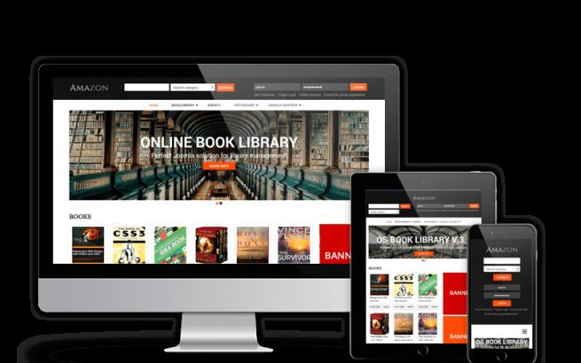 Joomla Template: Amazon Digital Library Website Template