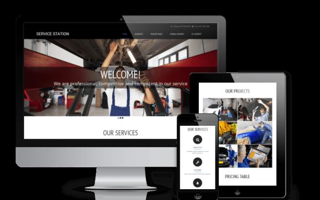 Joomla Template: Service Station - Free  Car Repair Joomla template