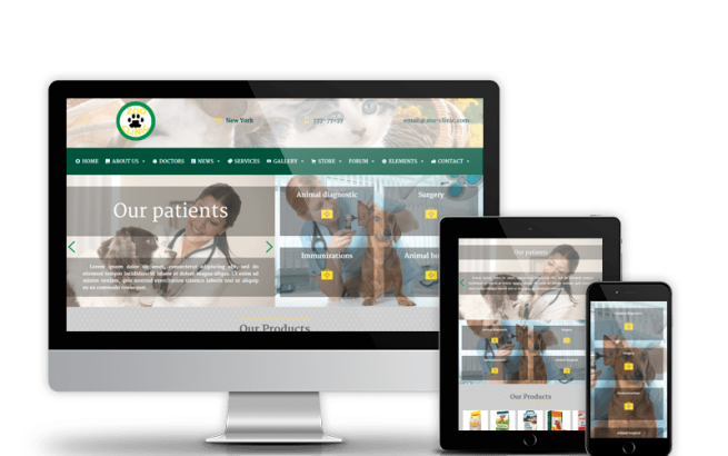 Wordpress Theme: Zoo-Clinic - Veterinary Wordpress Theme