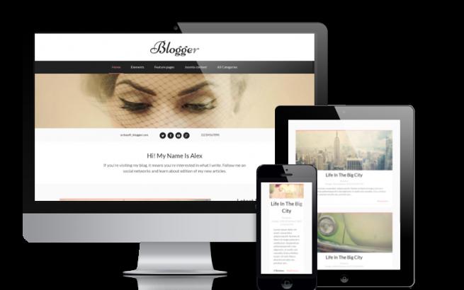 Joomla Template: Blogger - Joomla Blog template