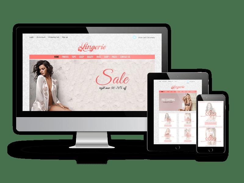 Joomla Template: Lingerie store - Joomla Virtuemart Template