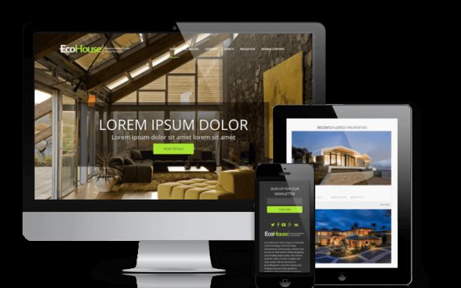Joomla Template: Eco House - Joomla Real Estate template