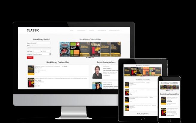 Joomla Template: Classic - Book Library Joomla Template